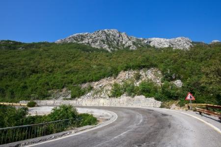 Mountain road in Montenegro photo