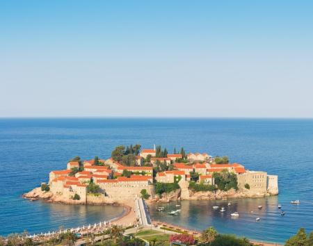 isthmus: Sveti Stefan (St. Stefan) island in Adriatic sea, Montenegro