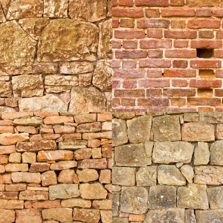 Collection of Stone wall background photo