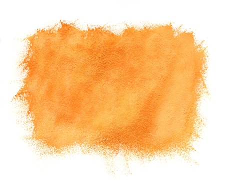 Abstract hand painted watercolor orange background photo