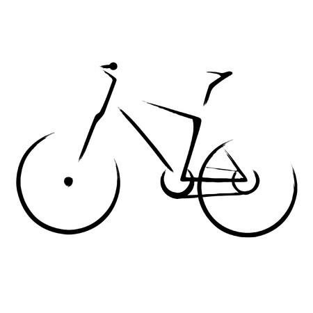 fahrradrennen: Illustration mit einem Fahrrad-Symbol Illustration