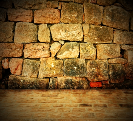 barrack: Stone wall background - An old stone wall makes an excellent background