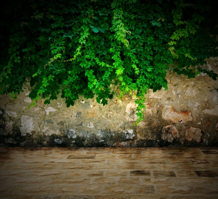 Stone wall background - An old stone wall makes an excellent background photo