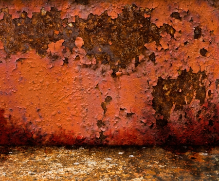 Background and texture of rusty metal