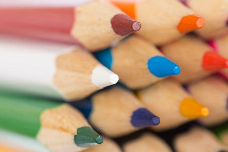 Macro background of the pencil as an element for design  Colored pencils closeup Stock Photo - 16214631