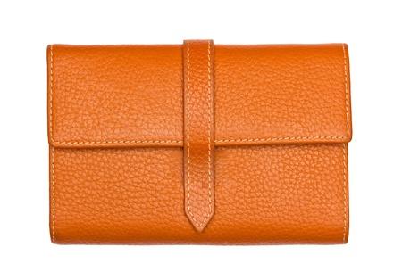 Big Brown purse on white