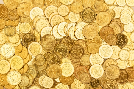 gold and silver coins: Background of the coins of Ukraine