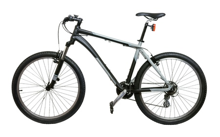 Mountain bicycle bike isolated on white background Stock Photo