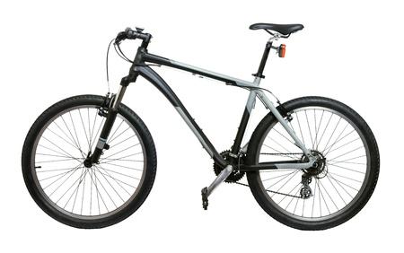 racing bicycle: Mountain bicycle bike isolated on white background Stock Photo