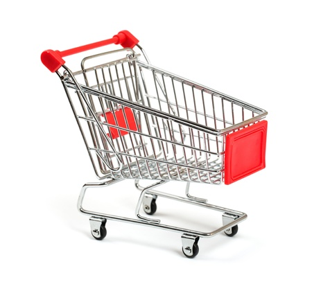 shopping cart: Shopping Cart with shadow isolated on white Stock Photo