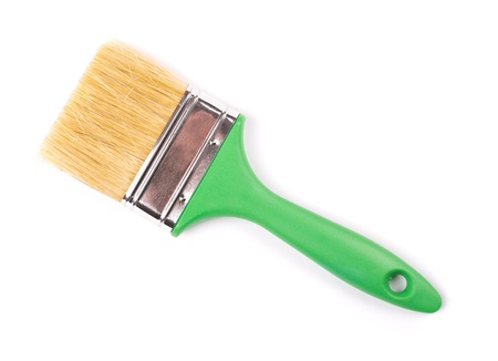 Paintbrush with shadow isolated on white background Stock Photo - 18753454