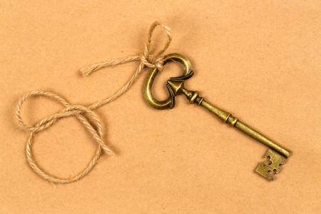 Vintage key with a string photo