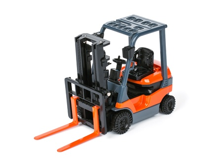 fork lift: Loader isolated on a white background Stock Photo