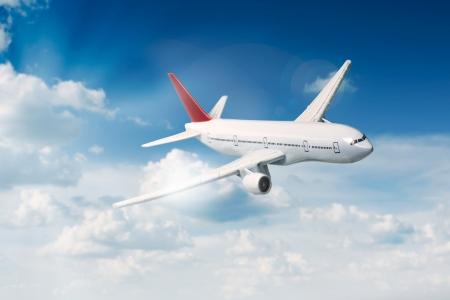 Flugzeug in den Himmel Standard-Bild - 20179442