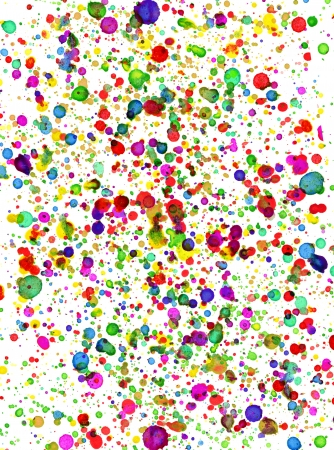 paint splatter: Colorful drops of paint as background Stock Photo