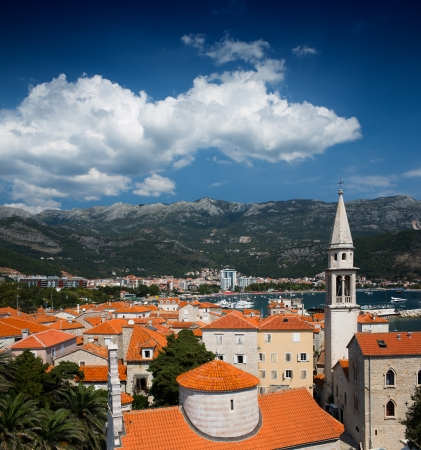 View on old town of Budva. Montenegro, Balkans, Europe photo