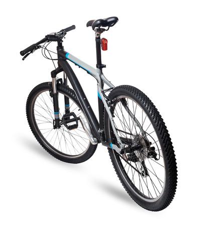 白で隔離される山自転車バイク