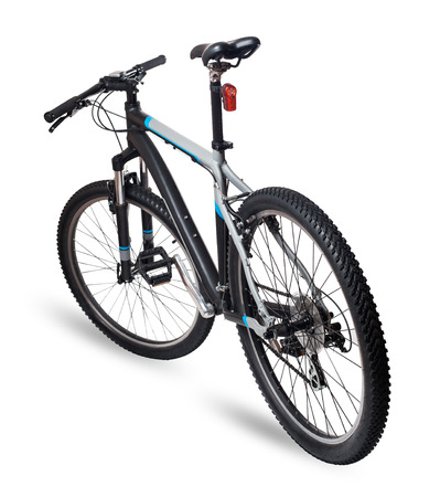 Bicicleta de montaña aisladas en blanco Foto de archivo - 24304713