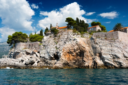 Island of Sveti Stefan, Montenegro, Balkans, Adriatic sea, Europe photo