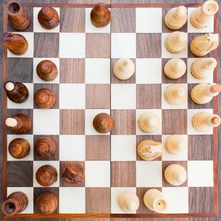 すべての数字とチェス盤トップ ビュー 写真素材