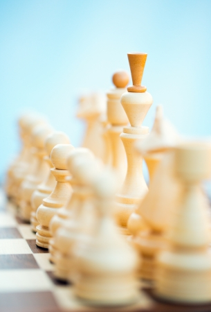 Chess pieces on the board. Focus on King Stock Photo - 25159314