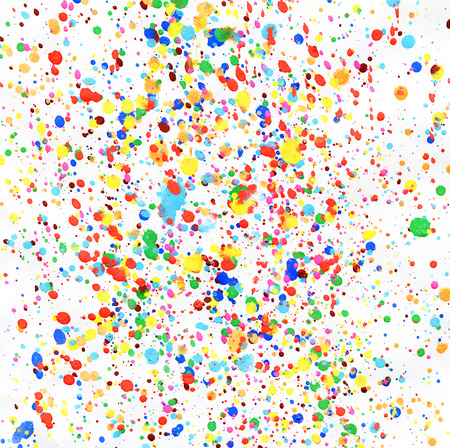 Colorful drops of paint as background photo