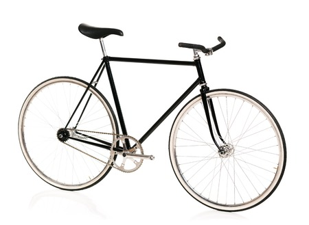Stylish bicycle isolated on white background Stock Photo