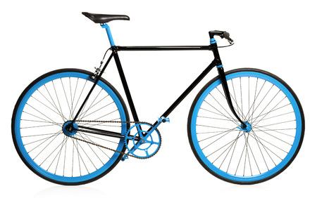 bicicleta: Bicicleta estilo aislado en el fondo blanco Foto de archivo