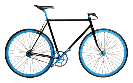 Stylish bicycle isolated on white background Stockfoto