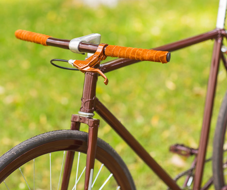 hand crank: Stylish bicycle isolated on white background Stock Photo
