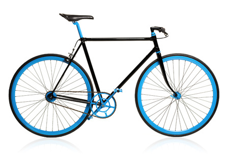 Stylish bicycle isolated on white background Фото со стока