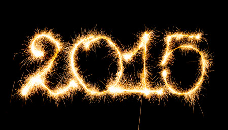 Happy New Year - 2015 made a sparkler photo