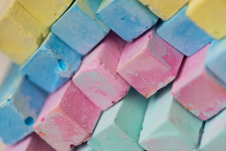 Colorful chalk pastels - education, arts,creative, back to school photo