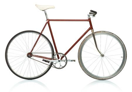 流行に敏感なスタイリッシュな自転車 - 固定ギアは、白い背景で隔離