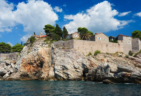 budva: Island of Sveti Stefan, Montenegro, Balkans, Adriatic sea, Europe