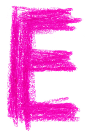 e alphabet: E Alphabet pastel on white background