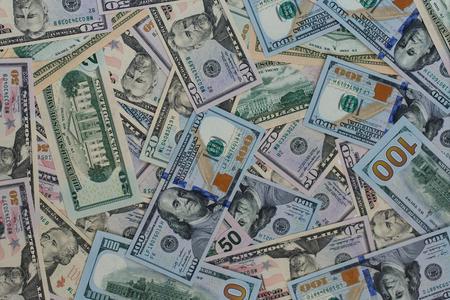 USA-Dollar-Geld-Banknoten Textur Hintergrund Standard-Bild