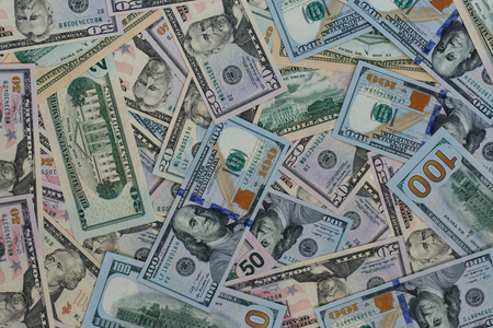 money background: USA dollar money banknotes texture background