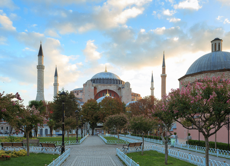 patriarchal: View of Hagia Sophia, Christian patriarchal basilica, imperial mosque and now a museum, Istanbul, Turkey Stock Photo