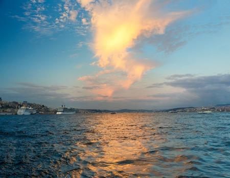 ferries: Bosphorus, ships and passenger ferries in the Bosphorus, Istanbul, Turkey