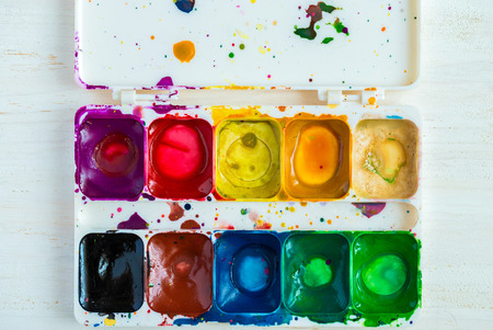 Artist brush and paint.  Art of Painting Stock Photo