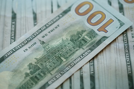 USA dollar money USA dollar money banknotes background, wealth concept Stock Photo