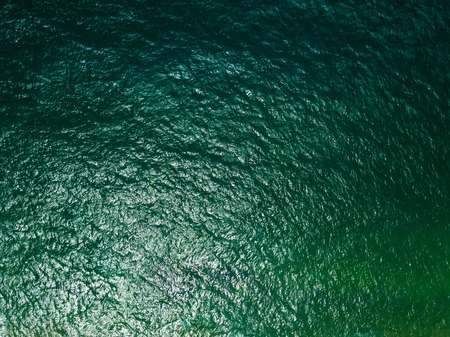 gentle dream vacation: View from the height on the surface of the ocean Stock Photo