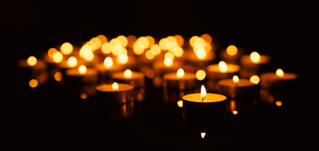 Many burning candles with shallow depth of field Reklamní fotografie