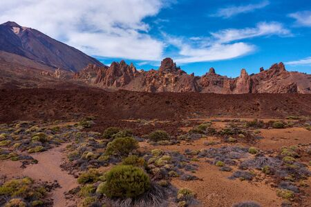 View from the height on Teide National Park on Tenerife, Canary Islands, Spain