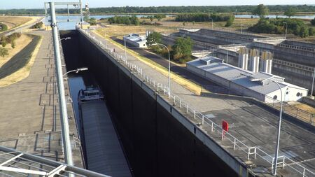 Rothensee canal lift, boat lift in Germany.