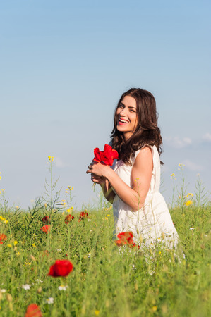 Free Happy Woman Enjoying Nature  Beauty Girl Outdoor  Freedom concept  Beauty Girl over Sky and Sun Enjoyment