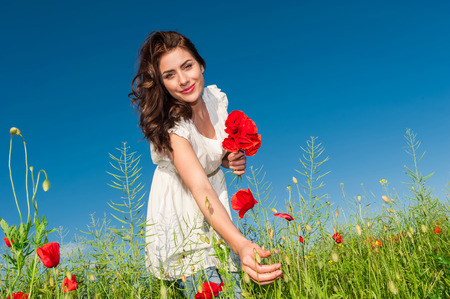 light hearted: Free Happy Woman Enjoying Nature  Beauty Girl Outdoor  Freedom concept  Beauty Girl over Sky and Sun Enjoyment