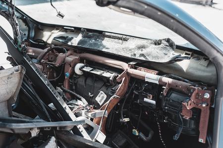 pile reuse engine: Auto parts dismantling yard.