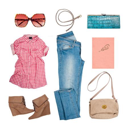 ropa de verano: Outfit de ropa y accesorios de mujer